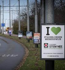 Citydisplays in Arnhem ingezet in referendum